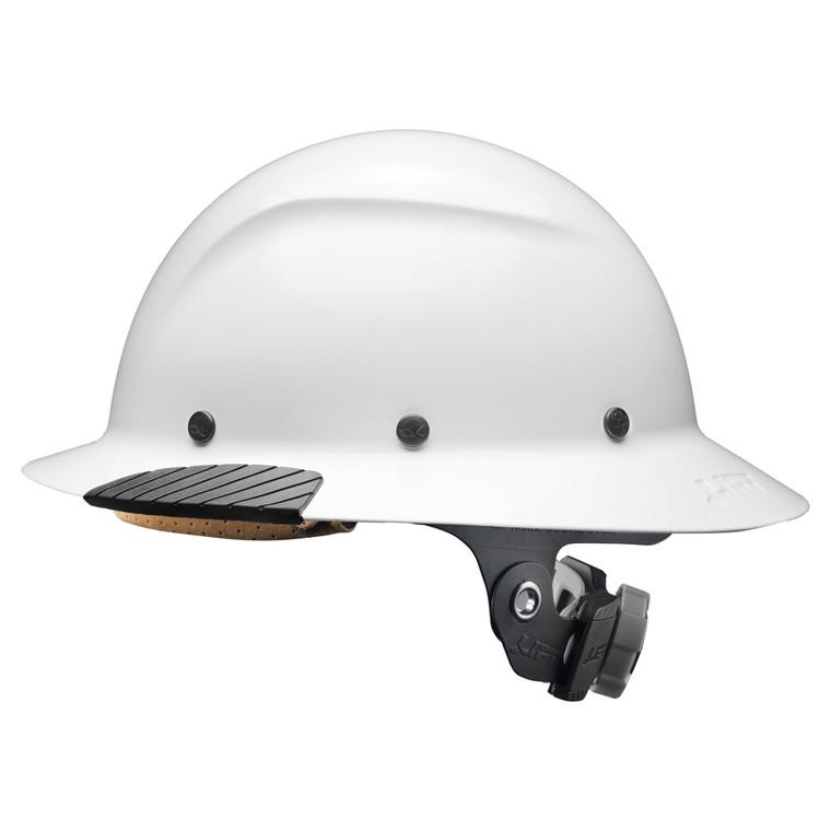 Lift HDF-15WG Dax Fiber Resin Full Brim Hard Hat - Gloss White