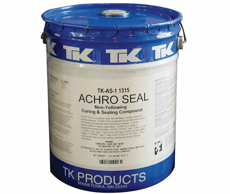 TK Products TK-AS-1 1315 5 PHE 5 Gallon Pail AS-1 Curing and Sealing Agent TK Products TKAS105