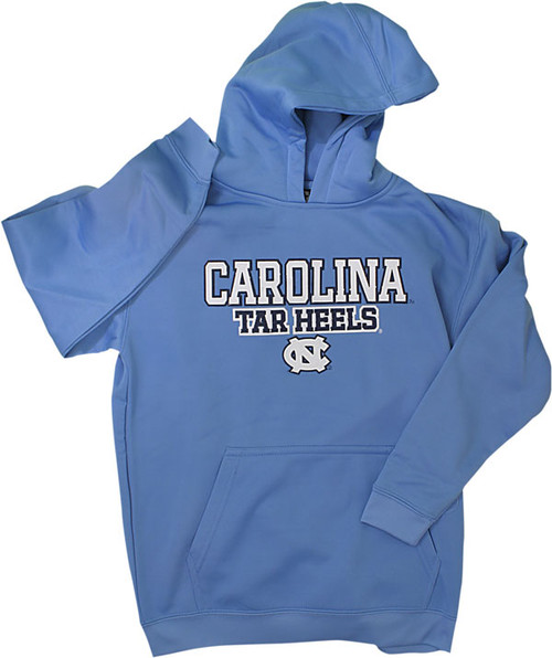 J. America Youth Poly Fleece Hood-Carolina Blue