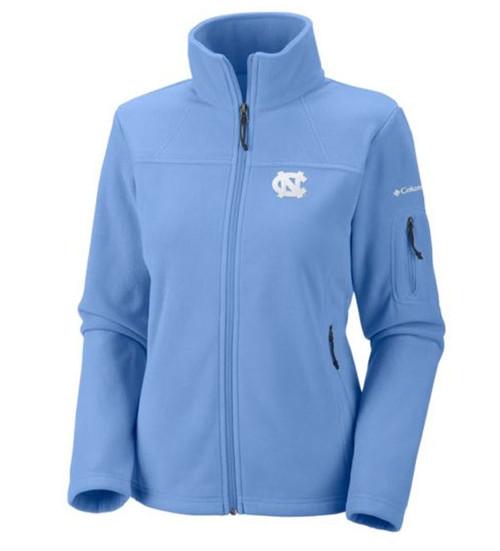 Carolina Blue womens cut full zip jacket with an interlocking NC