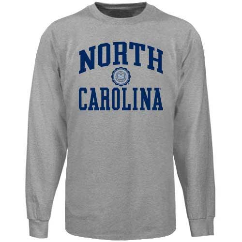 North Carolina Seal LONG SLEEVE Tee - Sport Gray