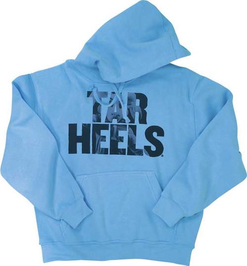 Tar Heels Rameses Picture HOOD - Carolina Blue