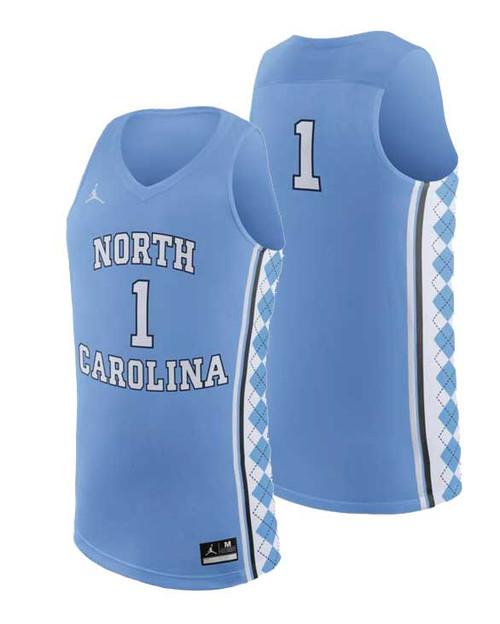 Nike REPLICA Basketball Jersey - Carolina Blue #1