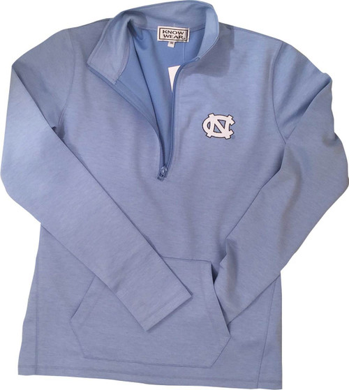 Know Wear LADIES 1/4 Zip Fleece - Heathered Carolina Blue