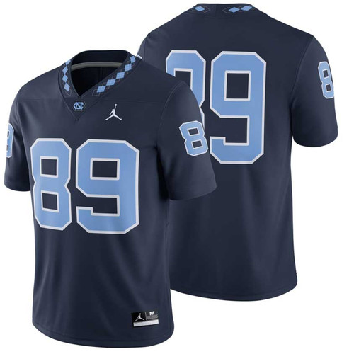 Navy football jersey with number 89.