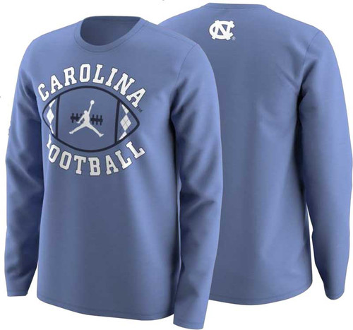 Nike Jordan Football Activation LONG SLEEVE Tee - Carolina Blue