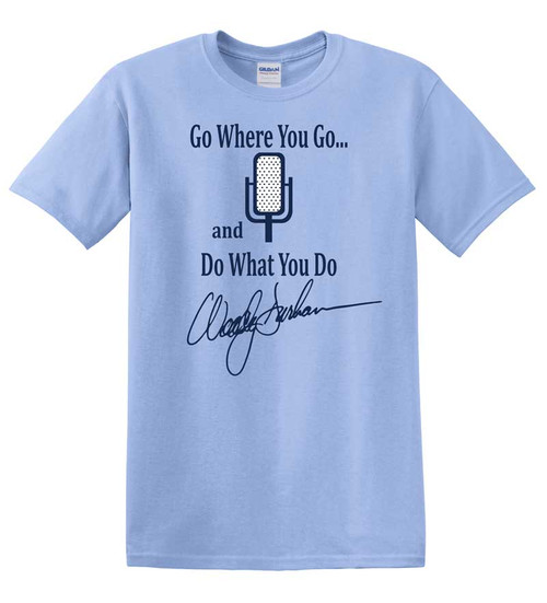 Woody Durham Go Where You Go Tee - Carolina Blue