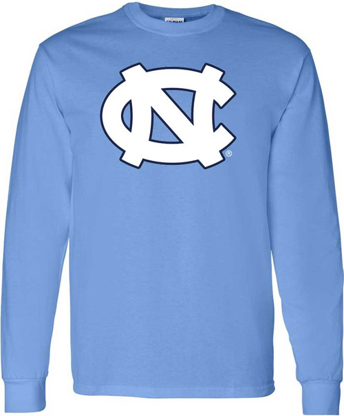 North Carolina Big NC LONG SLEEVE Tee - Carolina Blue