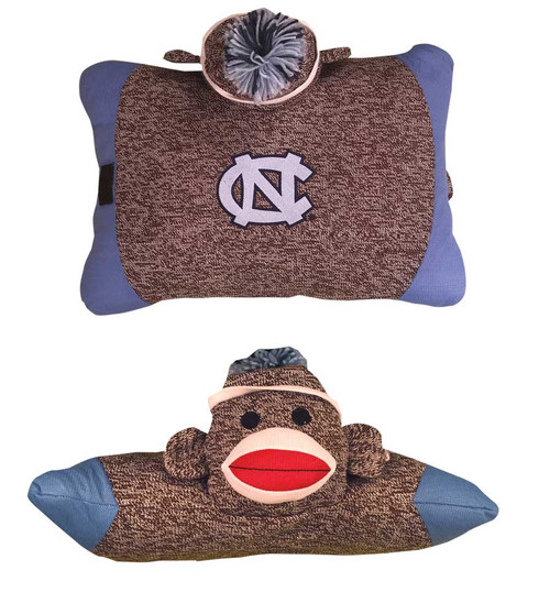 Carolina Sock Monkey Pillow