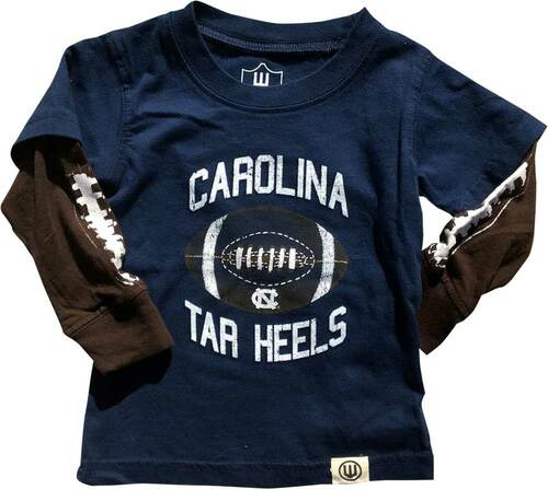 Wes & Willy INFANT Layered Tee - Football Navy