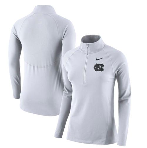Nike Women's Element Half Zip - White