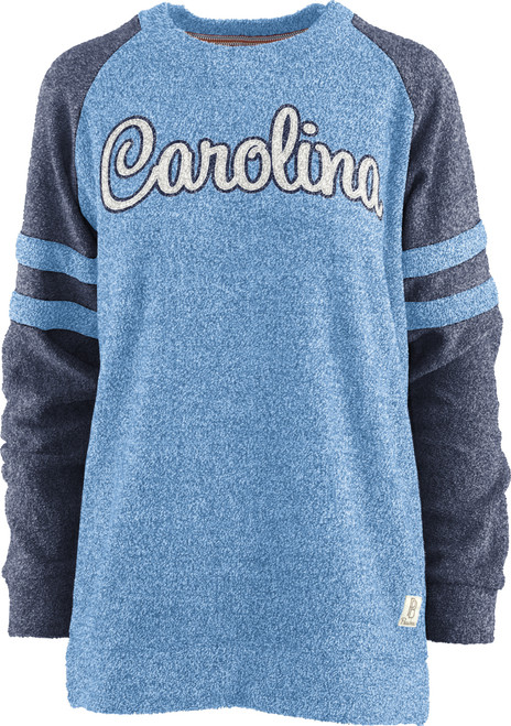 Ladies Pressbox Raglan Sleeve Stripe Crew - Dawn