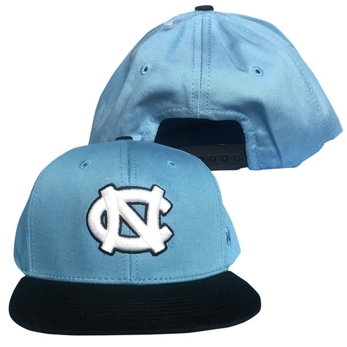 YOUTH Top of the World Flat Bill - NC Navy and Carolina Blue