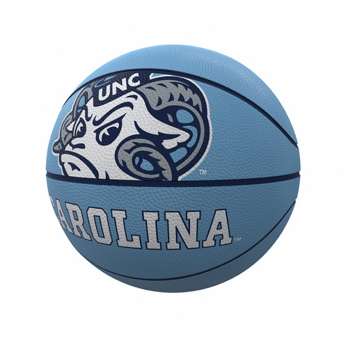 Logo Brands Mini Rubber Basketball - Ram Head Carolina
