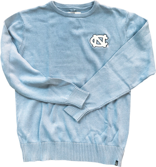 Bruzer Carolina Blue Crew Neck Sweater - Left Chest NC
