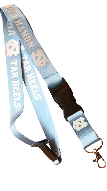 Game Day Break Apart Carolina Blue Lanyard-Carolina NC Tar Heels