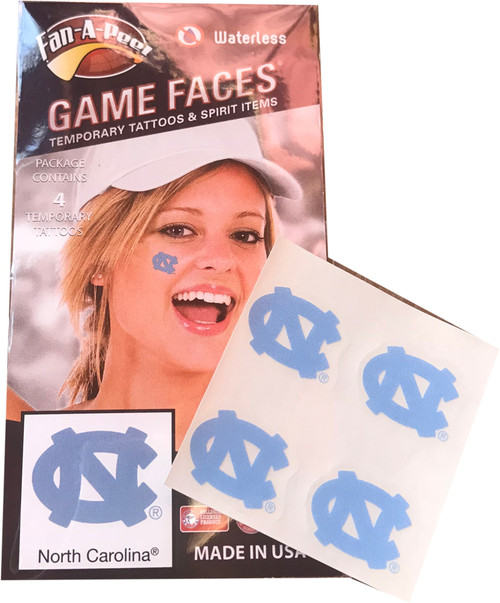 Game Faces Temporary Tatoos-NC 4 pack