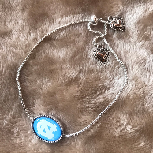 FTH Blue Oval NC Hearts Bracelet