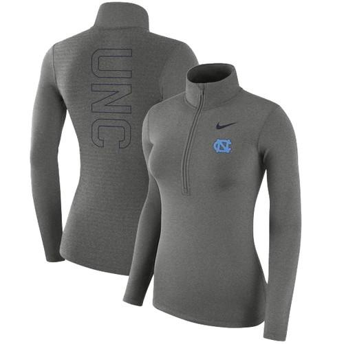 Women's Nike Carolina 1/4 Zip Warm Top - Carbon Heather