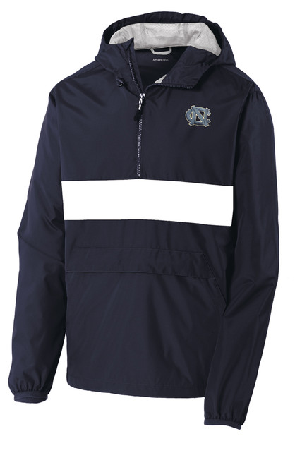 Carolina Zipped Pocket Anorak - Navy with Left Chest NC