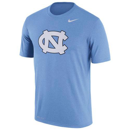 Nike Performance Logo Tee - Interlocking NC on Carolina Blue