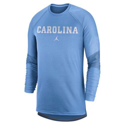 Nike Jordan Dry Top LONG SLEEVE - Carolina Blue with block Carolina
