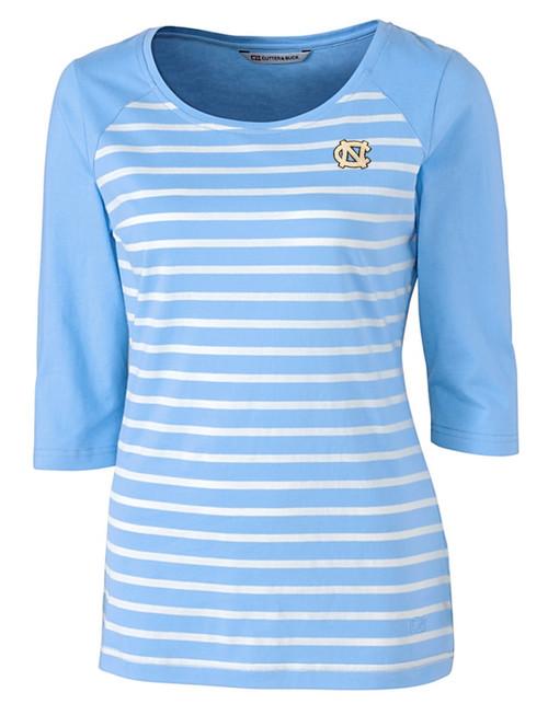 Women's Cutter and Buck Ladies 3/4 Sleeve Striped Shirt
