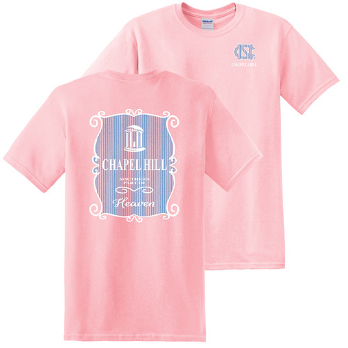 Seer Sucker Chapel Hill Left Chest and Back Tee - Pink