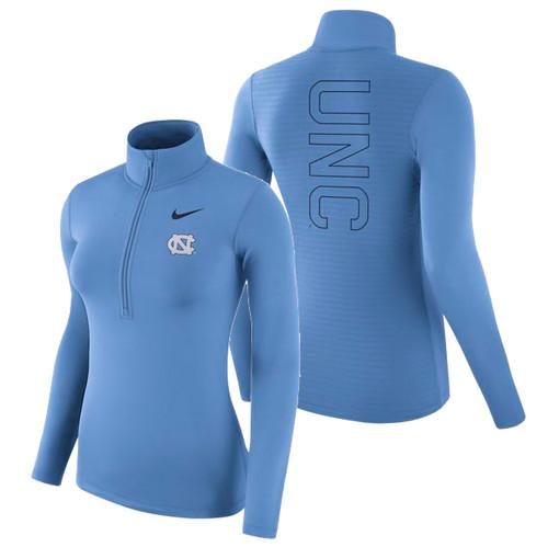 Women's Nike Carolina 1/4 Zip Warm Top - Carolina Blue