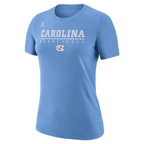 Women's Nike Jumpman Carolina Legend Practice Tee - Carolina Blue