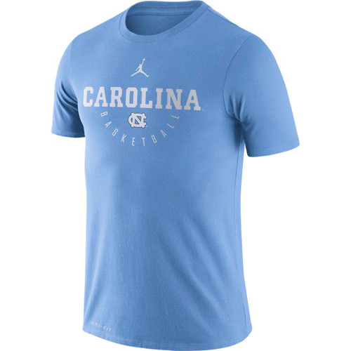 2018-2019 Nike Jumpman Carolina Dry Basketball Key Tee - Carolina Blue