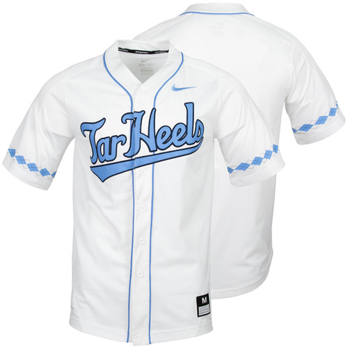 2020 Nike Carolina Baseball Jersey - Full Button White