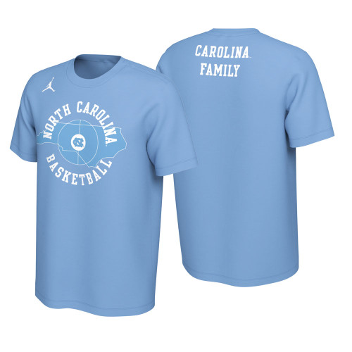 2019-2020 Nike Jordan OFFICIAL Student Fan Tee - Carolina Blue