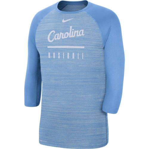 Nike Legend 3/4 Raglan Sleeve Baseball Tee - Carolina Blue