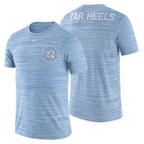 Nike Velocity Legend Heathered Baseball Tee- Carolina Blue