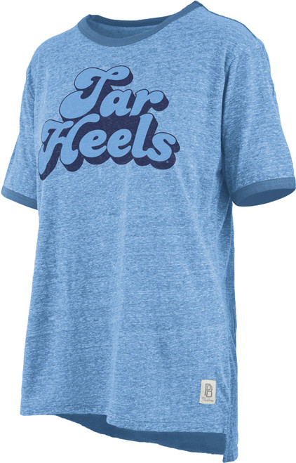 Ladies Pressbox 'Angie' Vintage Tee-Carolina Blue