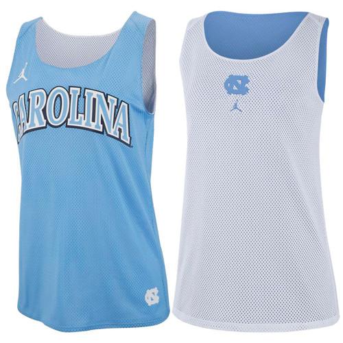 Women's Nike Jumpman Reversible DriMesh Tank - Carolina Blue to White
