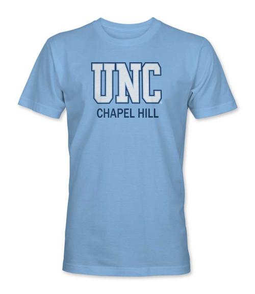 UNC over Chapel Hill Tee Shirt - Carolina Blue