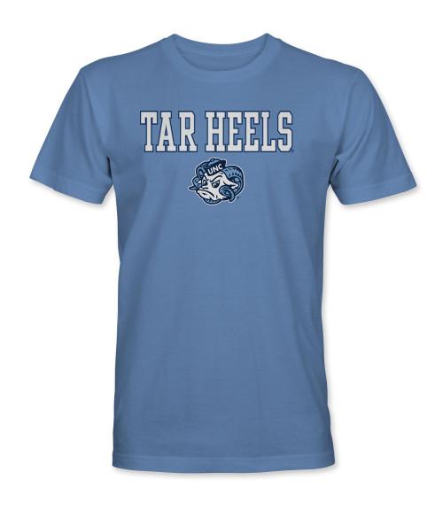 Tar Heels Ram Face Tee Shirt - Carolina Blue