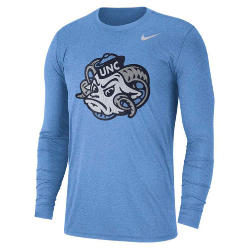 Nike LONG SLEEVE Triblend Vault Rameses Tee Shirt - Carolina Blue