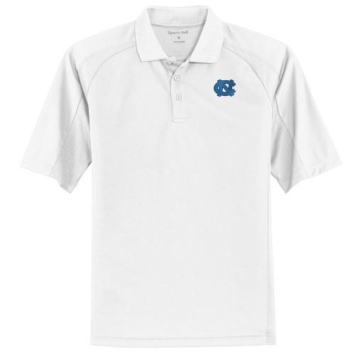 North Carolina Dri-Mesh Pro Polo - White with interlocking NC
