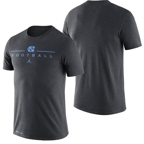 Nike Carolina Drifit Icon Word Tee - Football Charcoal Gray