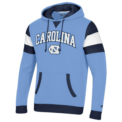Champion Color Block  MTO SuperFan Hood - Carolina Blue