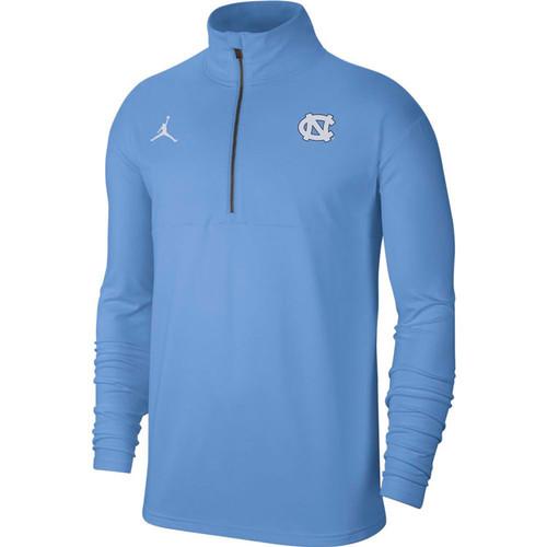 Nike Jordan Carolina Coaches Half Zip - Carolina Blue