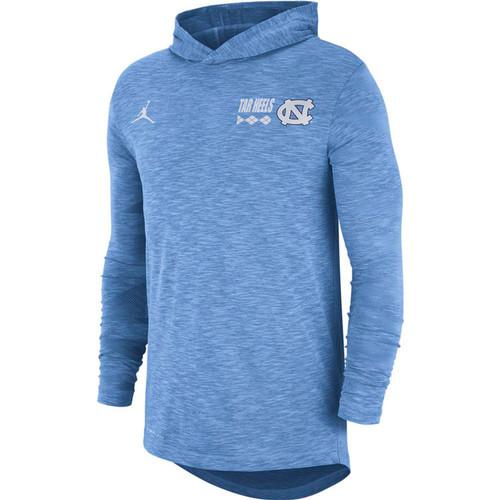 Nike Jordan Carolina Long Sleeve Hoody T - Carolina Blue