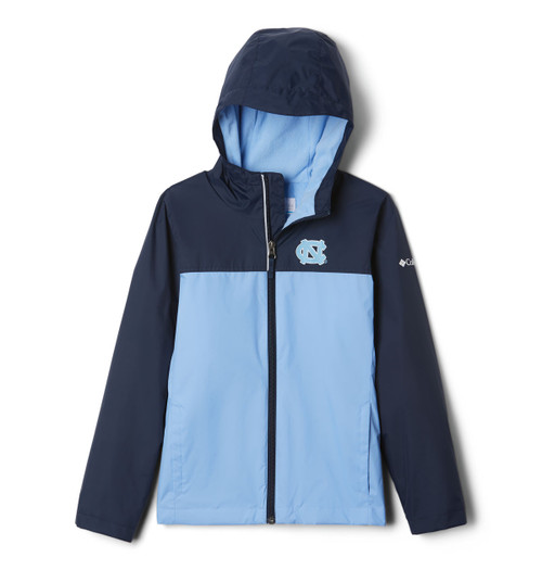 Columbia 2 tone jacket hoods and arms are navy body is Carolina blue with interlocking NC left chest