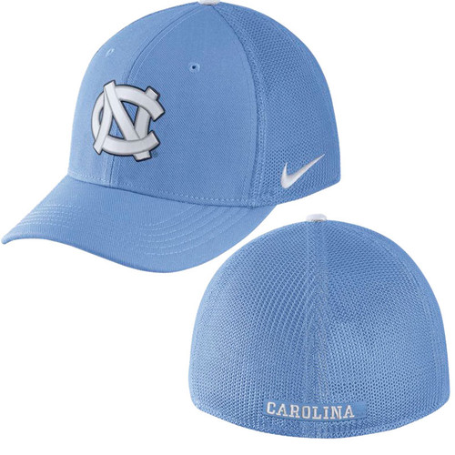 Mesh back Carolina Blue hat with the interlocking NC on the front.
