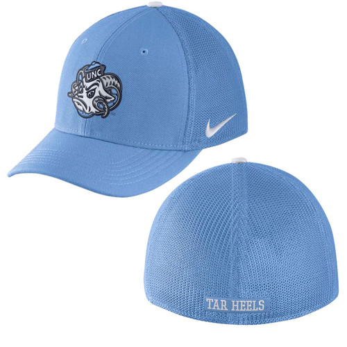 Mesh back Carolina Blue hat with Rameses Head on the front.