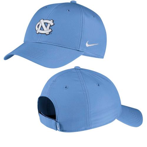 Carolina Blue adjustable hat with interlocking NC.