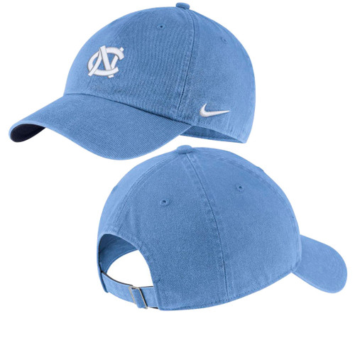 Carolina Blue twill hat with an interlocking NC on the front.